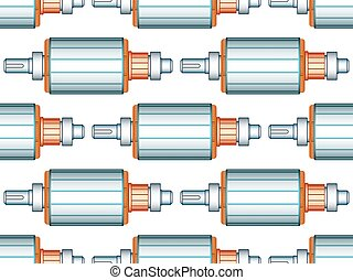 Electric motor rotor pattern - Seamless pattern of the...