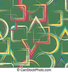 Seamless geometric grange hand drawn paint brash pattern in...