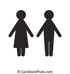 Man and woman icon  for  web site design, logo, app