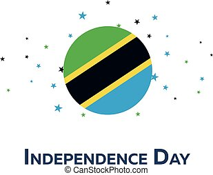 Independence day of Tanzania. Patriotic Banner. Vector...