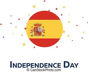 Independence day of Spain. Patriotic Banner. Vector...