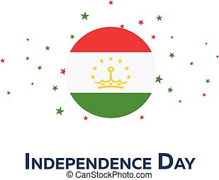 Independence day of Tajikistan. Patriotic Banner. Vector illustration.