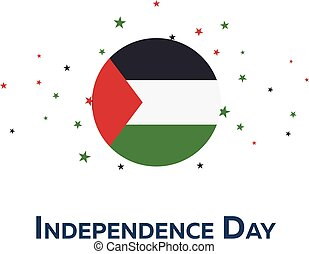 Independence day of Palestine. Patriotic Banner. Vector illustration.