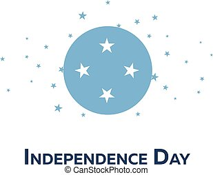 Independence day of Micronesia. Patriotic Banner. Vector...