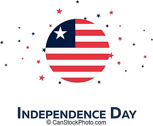 Independence day of Liberia. Patriotic Banner. Vector...