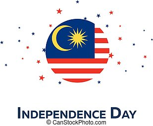 Independence day of Malaysia. Patriotic Banner. Vector...