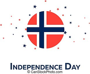 Independence day of Norway. Patriotic Banner. Vector...