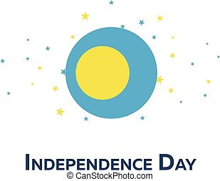 Independence day of Palau. Patriotic Banner. Vector illustration.
