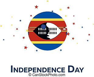 Independence day of Swaziland. Patriotic Banner. Vector...