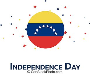Independence day of Venezuela. Patriotic Banner. Vector...