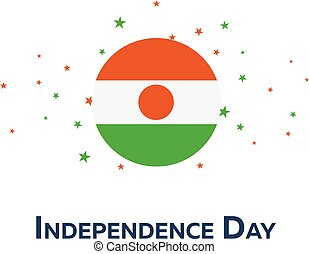 Independence day of Niger. Patriotic Banner. Vector...