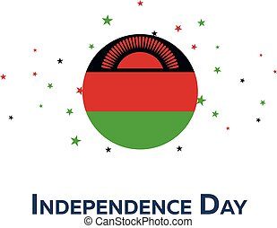Independence day of Malawi. Patriotic Banner. Vector...