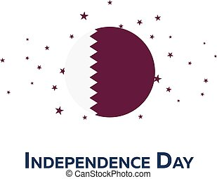 Independence day of Qatar. Patriotic Banner. Vector...
