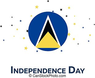 Independence day of Saint Lucia. Patriotic Banner. Vector...