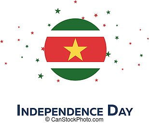 Independence day of Suriname. Patriotic Banner. Vector illustration.