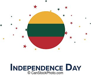 Independence day of Lithuania. Patriotic Banner. Vector...