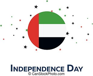 Independence day of United Arab Emirates. Patriotic Banner. Vector illustration.