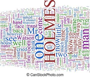 Word Cloud Based on Arthur Conan Doyle's Holmes Novels