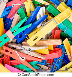 clothespins - colorful clothespins