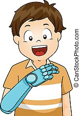 Kid Artificial Arm Holding Board