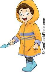 Kid Boy Gardener Hoodie Outfit