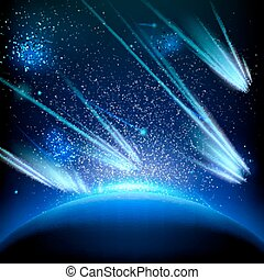 Make a wish on this shooting stars. EPS 10