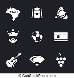 Icons Set of Spain.