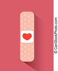 Band aid with heart design