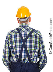Engineer standind backward - Picture of an engineer standing...