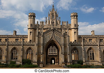 St Johns College. Cambridge. UK. - The New Court St John\'s...