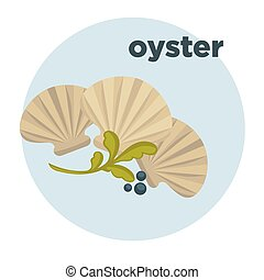 Oyster icon. Seafood vector illustration - Icon of oysters....