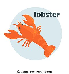 Lobster vector illustration. Seafood icon. - Red lobster...