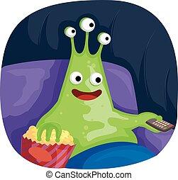 Mascot Alien Popcorn Movie