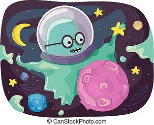 Mascot Slime Monster Space