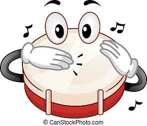 Mascot Snare Drum Tap - Mascot Illustration Featuring a...