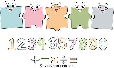 Mascot Puzzle Math Boards