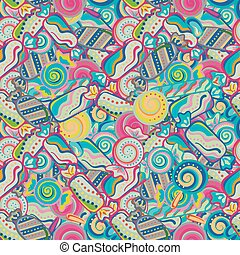 Yummy colorful sweet lollipop candy cane seamless pattern