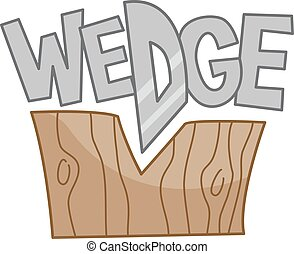 Wedge - Typography Illustration Featuring the Word Wedge...