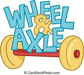 Wheel and Axle - Typography Illustration Featuring the...