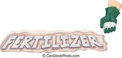 Fertilizer - Typography Illustration Featuring a Gardener...