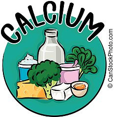 Calcium Icon - Icon Illustration Featuring Different Types...