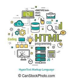 HTML line art concept