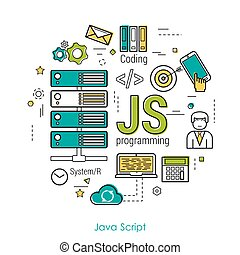 JS line art concept