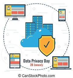 Concept of Data Privacy Day and Secure Storage