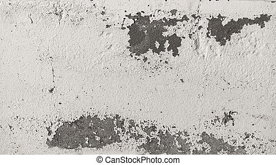 Old peeling paint brick wall grunge and dirty, background. -...