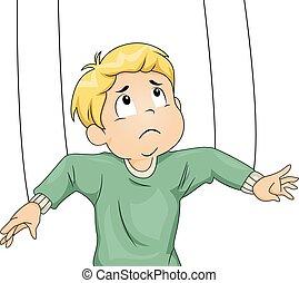 Kid Boy Puppet Strings