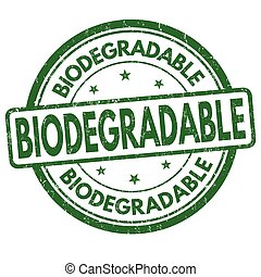 Biodegradable sign or stamp - Biodegradable grunge rubber...