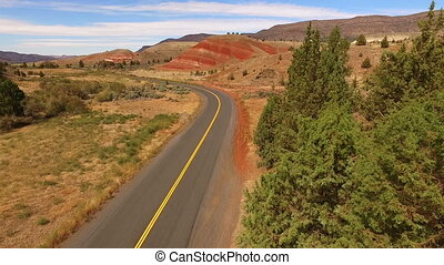 Painted Hills Fossil Beds Oregon State USA North America -...