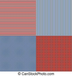 Blue and red simple stripes abstract seamless vector...