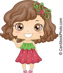 Kid Girl Strawberry Dress